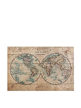 Panel Decorativo Vintage Worldmap