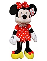 Disneys Minnie Mouse Red Polka Dot Dress Jumbo Plush Toy (23in)