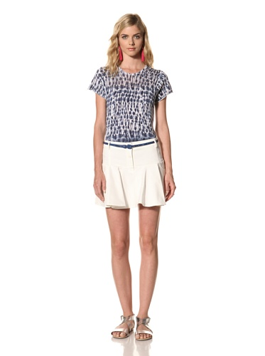 Thakoon Addition Women's Denim Ruffle Mini Skirt (White)