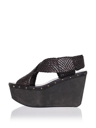 Joe's Jeans Women's Terrie Wedge Sandal (Brown)