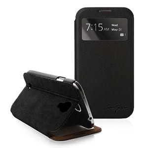 日本正規品-NTT ドコモ「GALAXY S4 SC-04E」専用ケース、Galaxy S4(IV) Italian Standing View Cover for Galaxy S4 i9500向け専用ビューケース(閉じたまま液晶が見えるカバー)