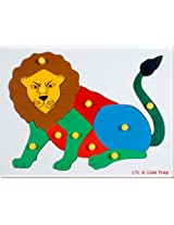 Little Genius Lion Tray, Multi Color