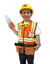 Melissa & Doug 4837 Construction Worker Role Play Costume Set