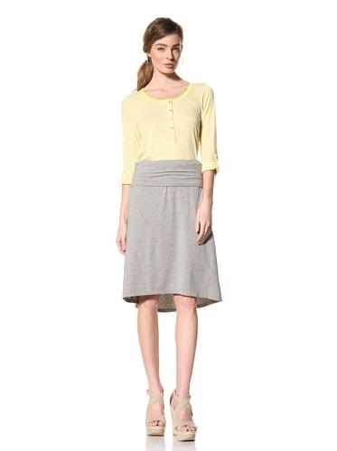 Splendid Women's High-Low Skirt (Heather Grey)