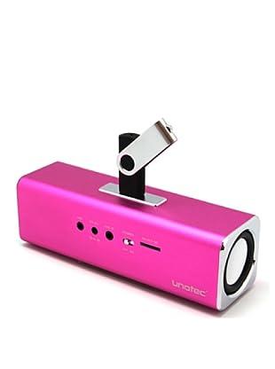 Unotec Altavoz Potente Con Fm Y Lector De Microsd Y USB Rosa