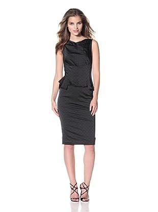 Nina Ricci Women's Jacquard Peplum Dress (Black)
