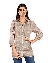 Brown Sequence Collar Shirt-SON591-XXL