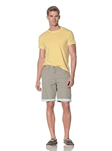 Tailor Vintage Men's Reversible Short (Khaki/Gingham)