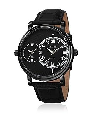 August Steiner Uhr mit schweizer Quarzuhrwerk  schwarz 43 mm