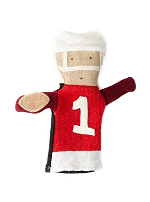 Cate and Levi Unisex Football People Puppet , Red/White