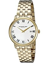 Raymond Weil Toccata White Dial Yellow Gold PVD Mens Watch 5488-P-00300