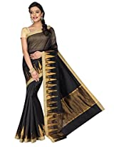 Korni Cotton Silk Banarasi Saree DS-1528- Black KR0464