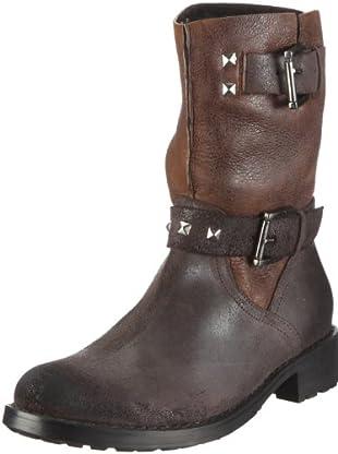 Buffalo London 1004 W 01 ROCK MONTONE 121245 - Botas de cuero para mujer (Marrón)