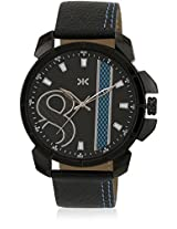 KILLER Black Dial Analogue Watch for Men (KLW5003F_New1)