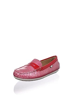 Venettini Kid's Savor Moc Loafer (Toddler/Little Kid/Big Kid) (Red Silver Zebra/ Red Pat)