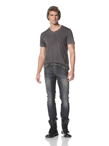 R13 Men's Skinny Low Rise Jeans (Rusty Blue)