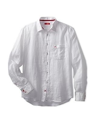 Rufus Men's Casual Button-Up Shirt (White)