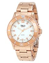 TKO ORLOGI Women's TK585-RG Rose Gold Sport Bezel Bracelet Watch