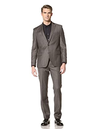 Tallia Men's Varga Two-Button Glen Plaid Suit (Brown Check)