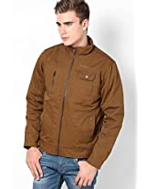 Khaki Casual Jackets (Smart Fit)