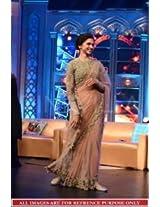Abhaysri Fashion Bollywood Replica Deepika Padukon Net Fabric Party Wedding Wear Saree