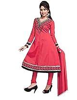Cotton Printed Pink Anarkali Suit - FQ02