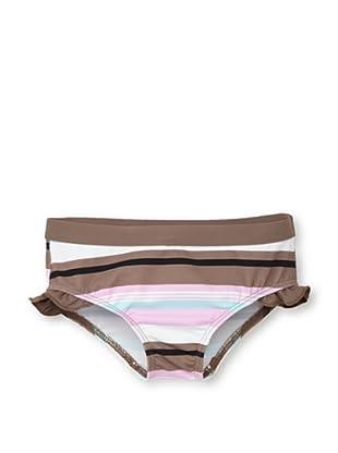 Les UltraViolettes Girl's Scoubidou Shorty Swim Shorts (Imprime Rayure)