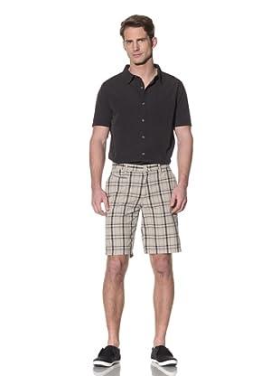 nüco Men's Plaid Shorts (Khaki)