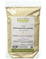 Banyan Botanicals Ashwagandha Powder- Certified Organic, 1 Pound