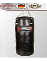 """LEATHER PUNCHING BAG MODEL KNOCKOUT FILLED AND WITH CHAIN 48"""" INCHES"""
