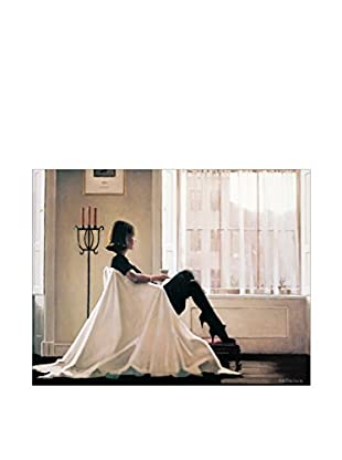 Artopweb Panel Decorativo Vettriano In Thoughts Of You 49x63 cm Bordo Nero
