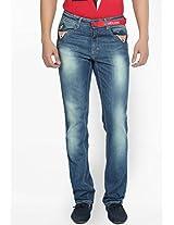 Washed Blue Regular Fit Jeans LIVE IN
