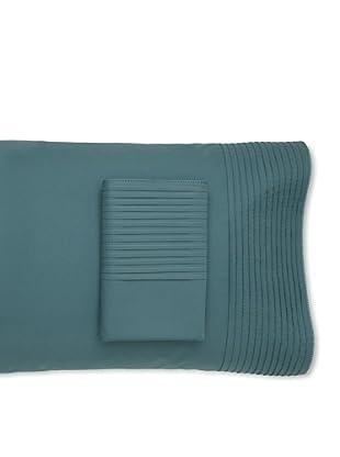 Coyuchi Pin-Tuck Pillowcases (Mid Teal)