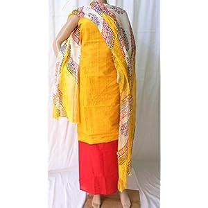 Ala Creations Chanderi Cotton Silk Dress Material