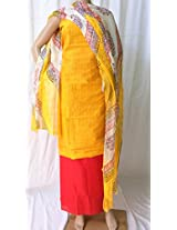 Ala Creations Chanderi Cotton Silk Dress Material
