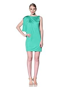 Muse Women's Asymmetrical 1-Sleeve Dress (Green)