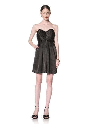 Twinkle By Wenlan Women's First Date Gathered Strapless Dress (Black)