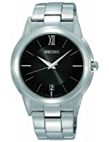 Seiko Analog Black Dial Men's Watch - SGEF43P1