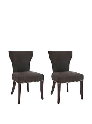 Safavieh Set of 2 Ryan Side Chairs, Bark