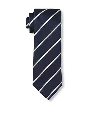 Rossovivo Men's Striped Tie, Bold Navy