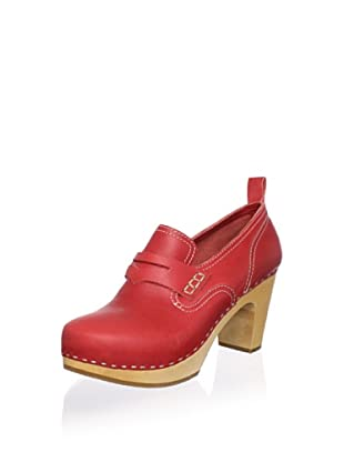 Swedish Hasbeens Women's Loafer Pump (Red)