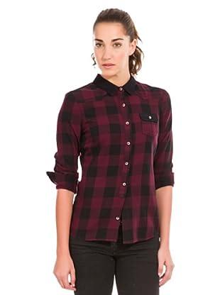 Springfield Camisa Cuadros (Burdeos / Negro)