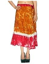 Rajrang Indian Wrap Around Skirt Knee Long Printed Wrap Skirt Open Waist