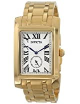Invicta Men's 14700 Cuadro Analog Display Swiss Quartz Gold Watch