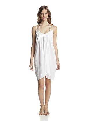 Valery Blu Women's Tulip Hem Beach Dress (White)