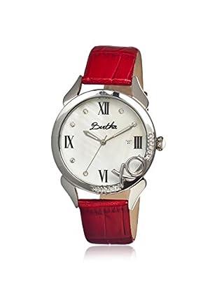 Bertha Women's BR2303 XO Red/White Leather Watch
