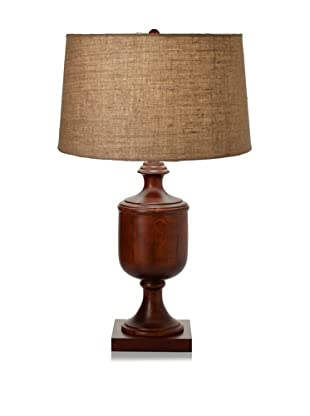 Lighting Accents Solid Wooden Urn Table Lamp