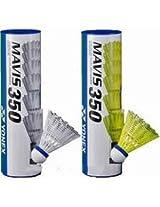 Yonex Mavis 350 Badminton Nylon Shuttlecock White color Medium speed