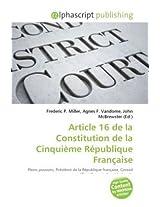 Article 16 De La Constitution De La Cinquime Rpublique Frana