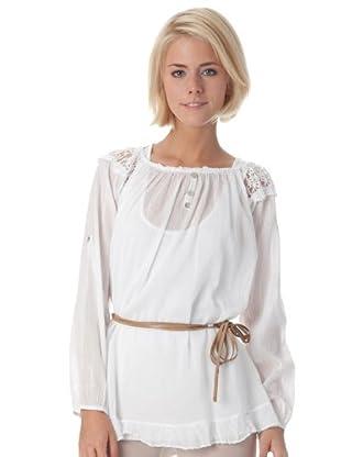 Bleifrei Blusa Crochet (blanco)